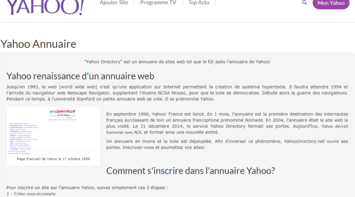 Yahoo Directory Index